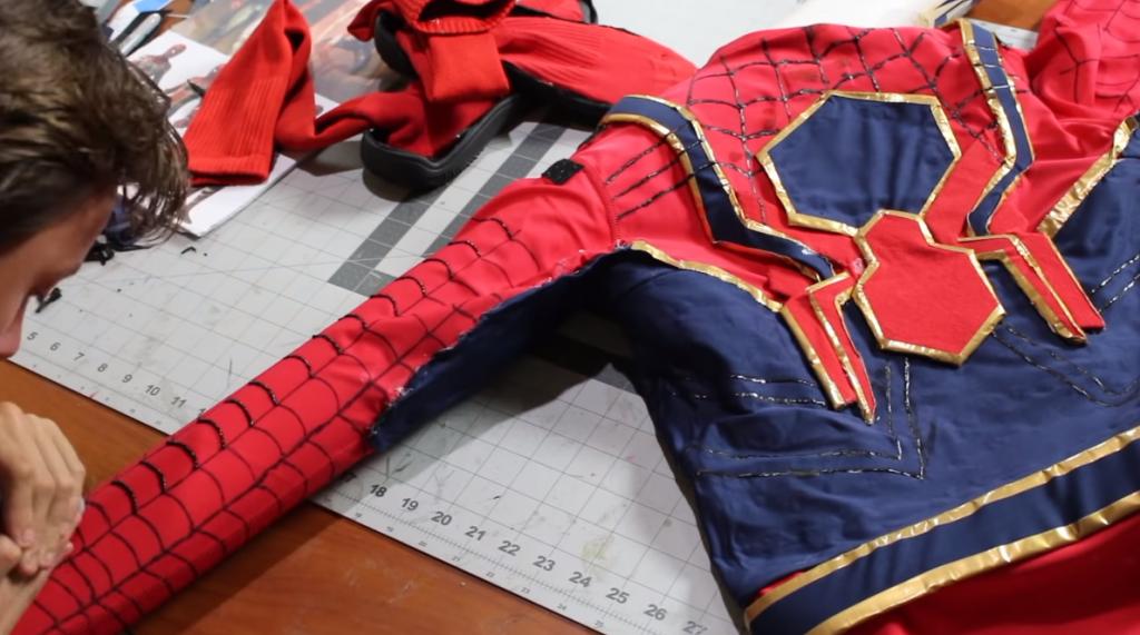 dress up as a superhero like spider-man